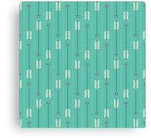 Arrows_Turquoise Canvas Print