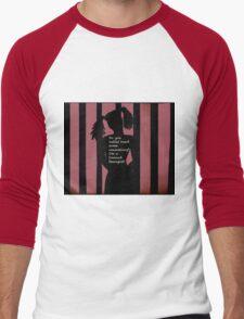 Harley Quinn Red Men's Baseball ¾ T-Shirt