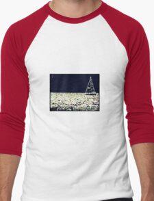 Night Sail Orb Men's Baseball ¾ T-Shirt