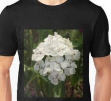 White Sweet William                                             Pentax X-5 MP    Unisex T-Shirt