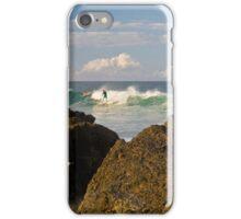 Surfing photographer at work iPhone Case/Skin