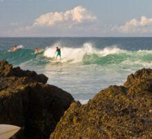 Surfing photographer at work Sticker