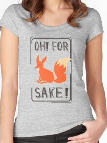 Oh for fox sake Women's Fitted Scoop T-Shirt