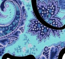 blue and purple paisley elephant Sticker