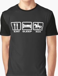 Eat, Sleep, Ride Horse Funny Graphic T-Shirt