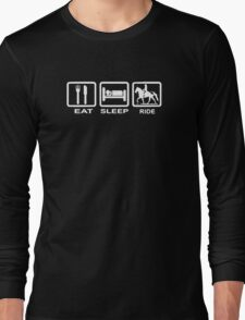 Eat, Sleep, Ride Horse Funny Long Sleeve T-Shirt