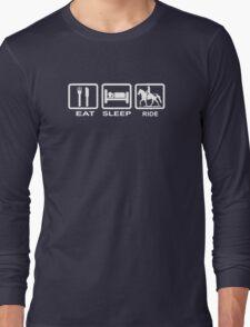 Eat, Sleep, Ride Horse Funny Long Sleeve T-Shirt