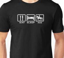 Eat, Sleep, Ride Horse Funny Unisex T-Shirt