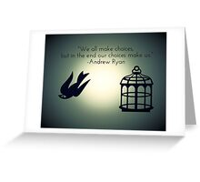 Bird or Cage? Greeting Card