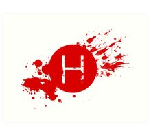 Comic Con Hall H Blood Splatter Art Print