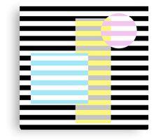 Grafik (Streifen und Farben) Canvas Print