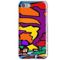 Abstract Village Town Scene iPhone Case/Skin