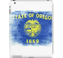 Oregon State Flag Distressed Vintage Shirt iPad Case/Skin