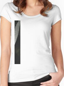 Vintage Italian Black Leather Women's Fitted Scoop T-Shirt