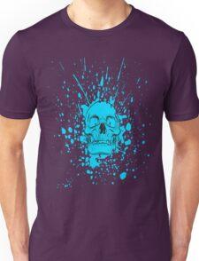 Skull: Cool Blue Unisex T-Shirt