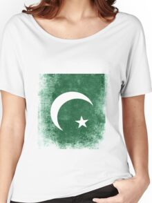 Pakistan Flag Proud Pakistan Vintage Distressed Shirt Women's Relaxed Fit T-Shirt