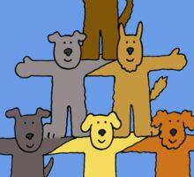 GCSE Congratulations with dogs. Sticker