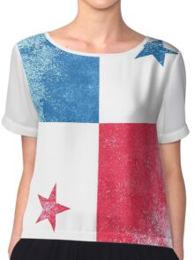 Panama Flag Proud Panamanian Vintage Distressed Shirt Chiffon Top