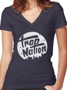 trap nation Women's Fitted V-Neck T-Shirt