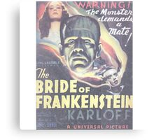 Boris Karloff Frankenstein Canvas Print