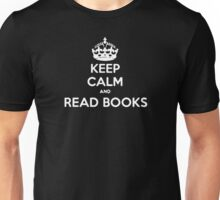 KEEP CALM AND READ BOOKS FUNNY LOGO Unisex T-Shirt