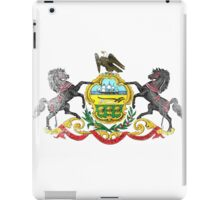 Pennsylvania State Flag Distressed Vintage Shirt iPad Case/Skin