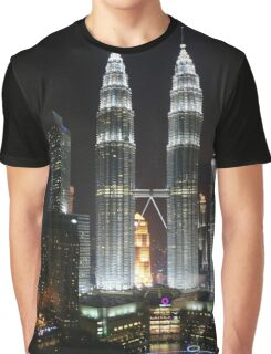 Petronas Twin Towers at Night Graphic T-Shirt