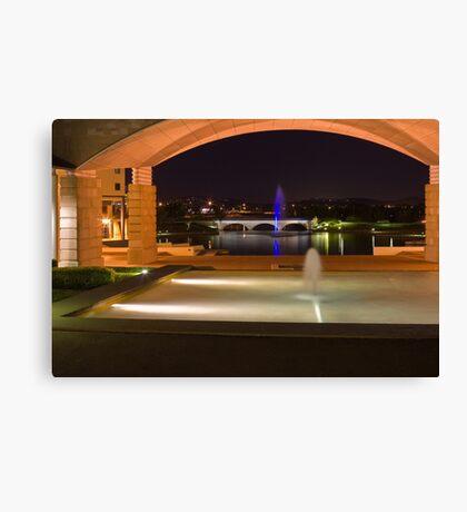Bond University under the arch Canvas Print