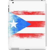 Puerto Rico State Flag Distressed Vintage Shirt iPad Case/Skin
