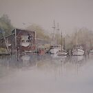 Gravelly Beach Boats by Muriel Sluce by Wendy Dyer