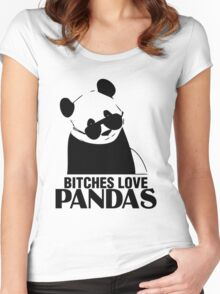 Bitches Love Pandas Women's Fitted Scoop T-Shirt