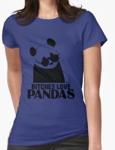 Bitches Love Pandas Womens Fitted T-Shirt