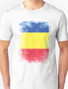 Romania Flag Proud Romanian Vintage Distressed Shirt Unisex T-Shirt