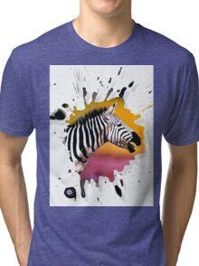 zebra Tri-blend T-Shirt