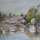 Gravelly Beach Boatyard by Muriel Sluce by Wendy Dyer