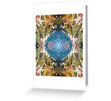 Mirror Art Blue Sphere Greeting Card
