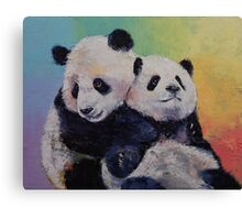 Panda Hugs Canvas Print