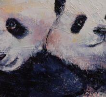 Panda Hugs Sticker