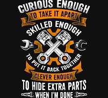 MECHANIC CURIOUS ENOUGH TO TAKE IT APART - SKILLED ENOUGH TO PUT IT BACK TOGETHER Zipped Hoodie