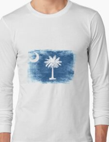 South Carolina State Flag Distressed Vintage Shirt Long Sleeve T-Shirt