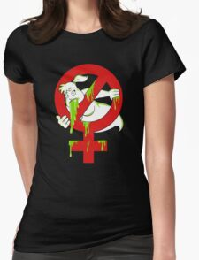 DESTROYING FUNNY GHOST Womens Fitted T-Shirt