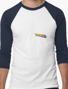 Dark Side of Nyan Cat Men's Baseball ¾ T-Shirt