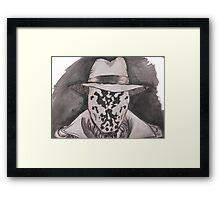 Watchmen - Rorshach Ink Portrait Framed Print