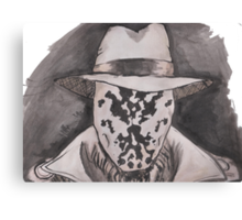 Watchmen - Rorshach Ink Portrait Canvas Print