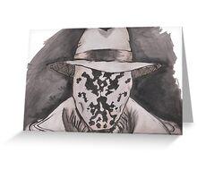 Watchmen - Rorshach Ink Portrait Greeting Card