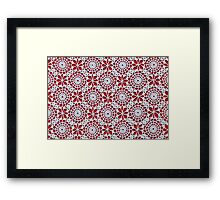 Portuguese Crochet Pattern - Cases, Pillows and More Framed Print