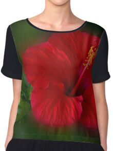 Red and green Chiffon Top