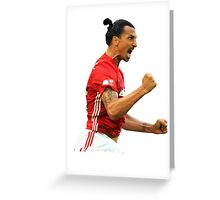 Zlatan Ibrahimovic Manchester United (T-Shirt, Phone Case & More ) Greeting Card