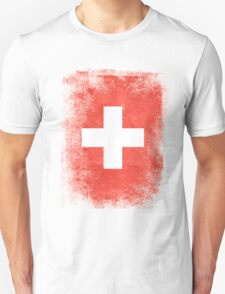 Switzerland Flag Proud Swiss Vintage Distressed Shirt Unisex T-Shirt