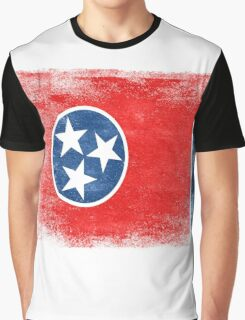 Tennessee State Flag Distressed Vintage Shirt Graphic T-Shirt